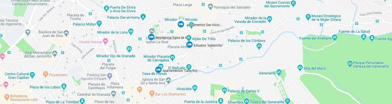 Mapa alojamientos