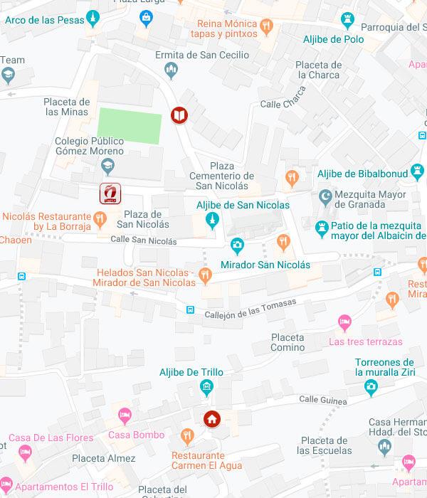 Mapa campus San Nicolás escuela de español