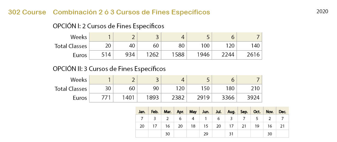Spanish courses prices 301